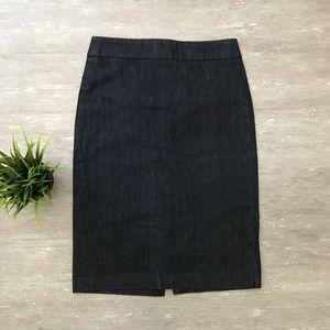 J. Crew High Waisted Denim Pencil Skirt